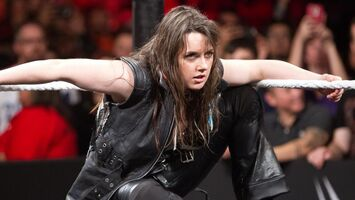 Nikki Cross staring-off
