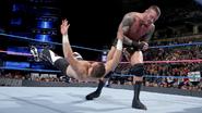 Zayn clothesline from Orton