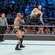 English dropkicks onto Orton