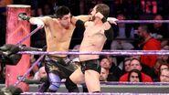 Aries punching Perkins