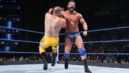 Roode floors Mojo with a clothesline