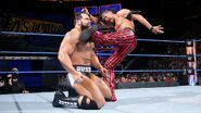 Shinsuke Nakamura relies on his trusty kicks and strikes against Rusev