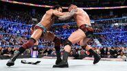 Jinder Mahal attacks the new United States Champion Randy Orton