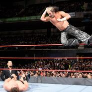 Matt Hardy elbowdrop on The Miz