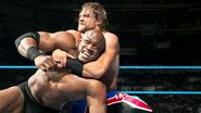 Burchill putting Lashley in a headlock