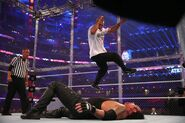 Shane-McMahon elbow drop onto The-Undertaker