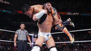 Neville carried Tozawa