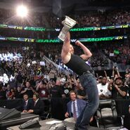 Dean winning the WWE Champion