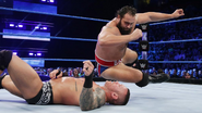Rusev elbow Orton