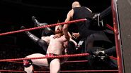 Sheamus Cesaro double teamed on Rollins