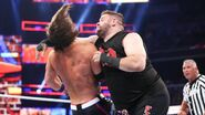 Owens hit Styles with a clothesline