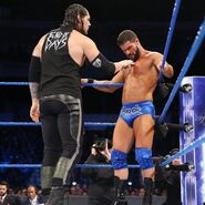Corbin laying his finger on Roode