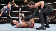 Dean-Ambrose Roman-Reigns and Seth-Rollins fighting CM-Punk