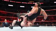 Strowman suplex by Brock-Lesnar
