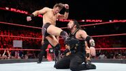The-Miz back and forth kick to Roman