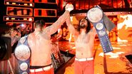 Jimmy and Jey Uso secure the pinfall to win back the SmackDown Tag Team Champion