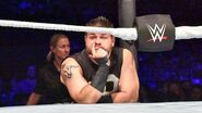 Owens outside the ring