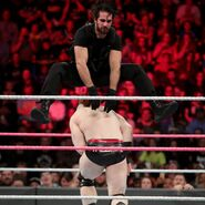 Rollins jump over Sheamus