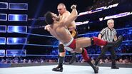 Mojo-Rawley send Mahal to the mat