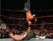 Morrison hit Cena with the moonsault