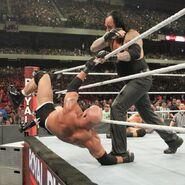 Undertaker eliminated Goldberg