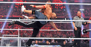 The-Rock hit John-Cena with the Rock Bottom