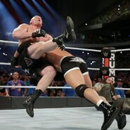 Goldberg spear Lesnar at Royal Rumble