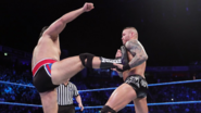 Orton caught Rusev foot
