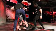 Strowman beaten down from the Shield