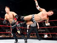 Punk dropkick the Miz