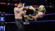 Kendrick kicks from Metalik at ringside