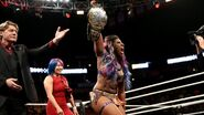 Ember Moon winning the NXT Womens Championship