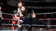 Sheamus shoulder block Rollins