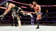 Nese toss Metalik against the ropes