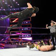 Metalik elbow drop on Perkins