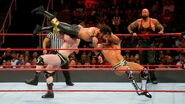 The-Bar double team on Rollins