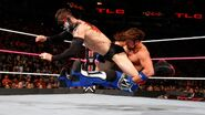 Styles hit Finn-Balor with the facebuster