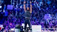 Seth Rollins Game-Of Throne inspired ring attire at WrestleMania 34