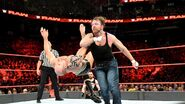 Dean hit Cesaro with a clotheline