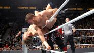 Sami-Zayn clothesline the Miz