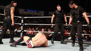 The Shield attacking Daniel Bryan