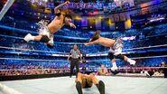 Usos splashed on Cesaro WrestleMania 30