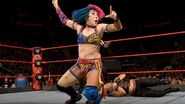 Asuka making Brooke submits