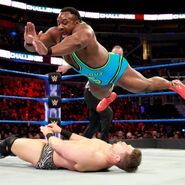 Big E drops onto The Miz