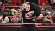 Brock lesnar-heath slater on Raw
