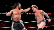 Seth Rollins punch Chris Jericho