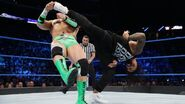 The-Usos superkick to Rawley