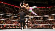 Gabriel delivering a elbow drop on Fandango