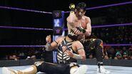 Perkins elbow to the face of Metalik