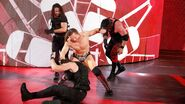 The-Miz attack Ambrose and Rollins